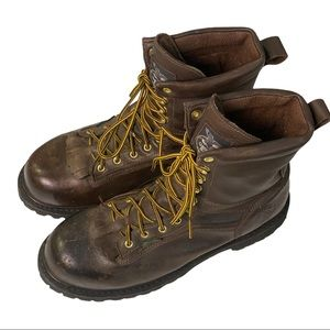 """Georgia Boot Mens 8"""" Heritage WP Boots - Size 12 W"""